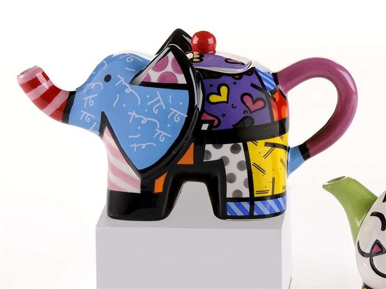 Romero Britto Miniature Teapot, Elephant