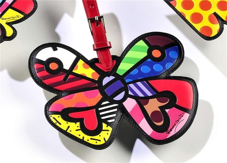 Romero Britto Luggage Tag, Butterfly