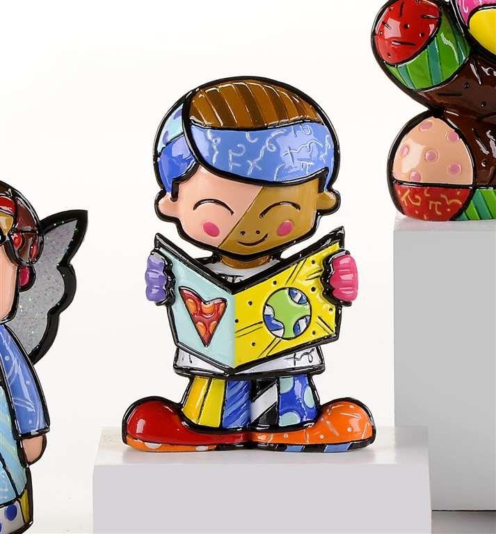 Romero Britto Miniature Teddy School Boy Figurine