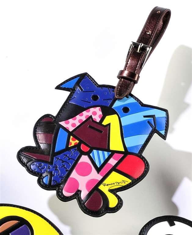 Romero Britto Luggage Tag, Dog