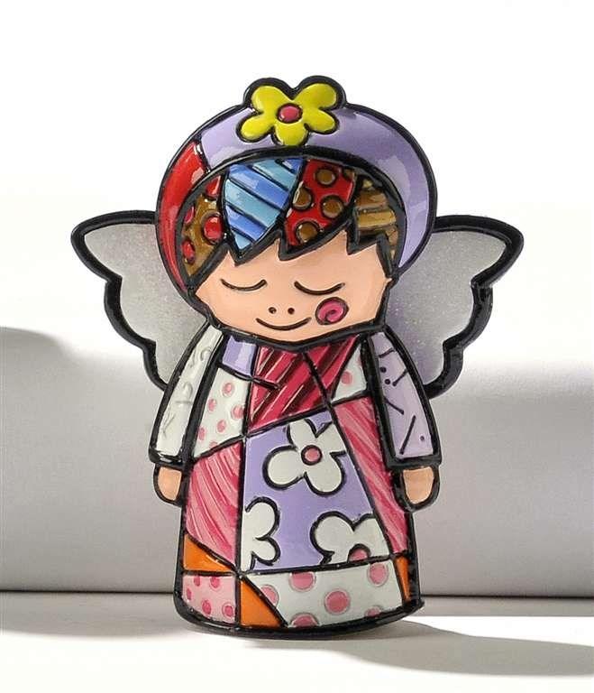 Romero Britto Miniature Angel Figurine