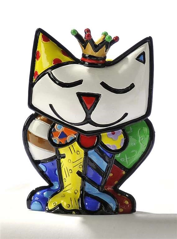 Romero Britto Miniature Princess Cat Figurine