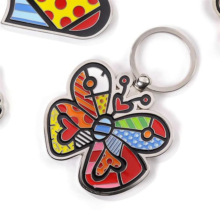 Romero Britto Keychain, Butterfly