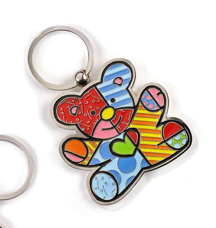 Romero Britto Keychain, Teddy Bear