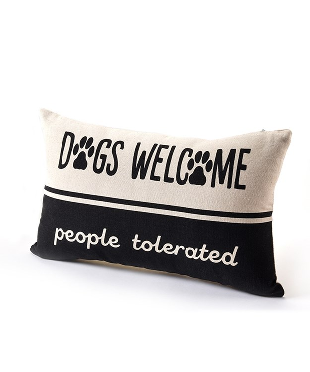 Furever Yours, Dog Design Pillow