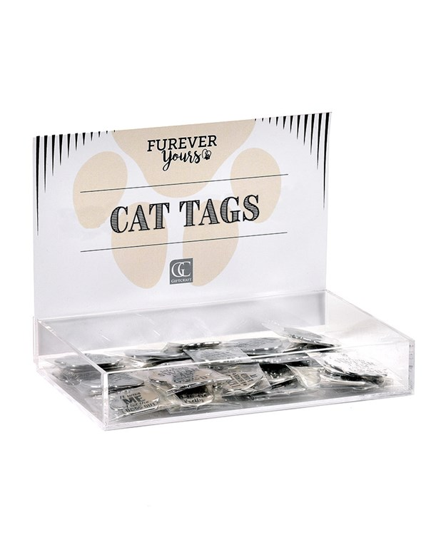 Furever Yours, Sentiment Cat Tags w/Displayer