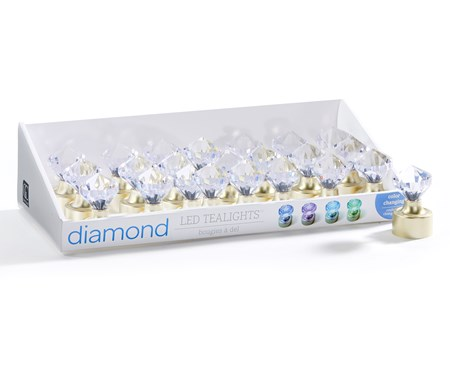 DiamondShapeLEDTealight2AsstwDisplayer