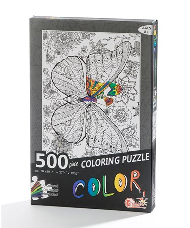DIYColoringPuzzlewMarkersButterfly