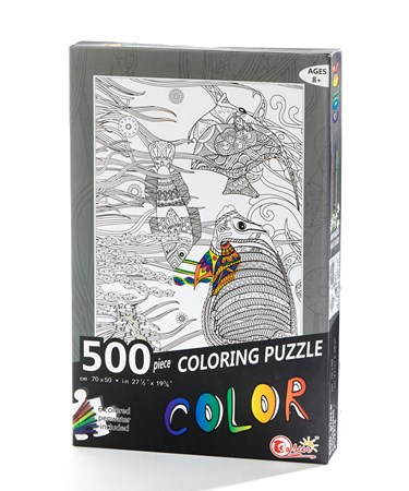 DIYColoringPuzzlewMarkersTropicalFish
