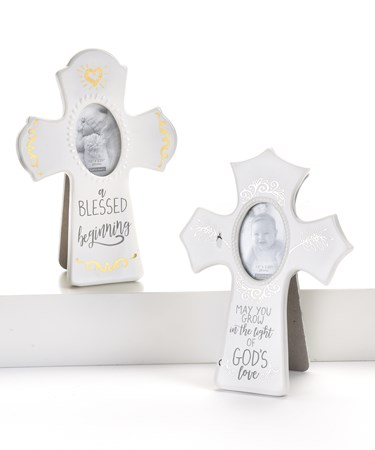 Cross Photo Frame, 2 Asst.