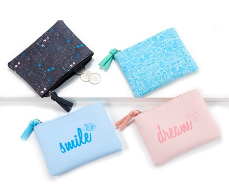 Mini Coin Pouch, 4 Asst.