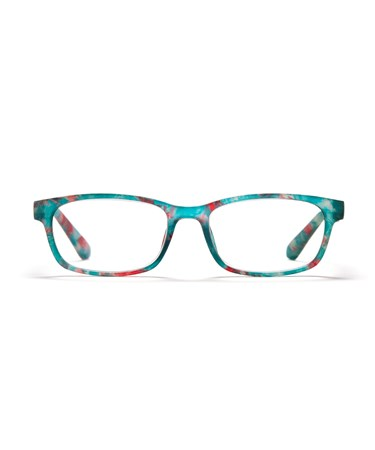 Rectangular Frame Readers, Speckled Green, +3.00