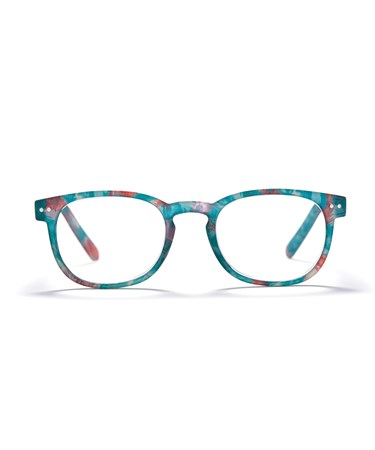 Square Frame Readers, Speckled Green, +3.00