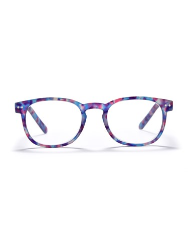 Square Frame Readers, Speckled Purple, +3.00