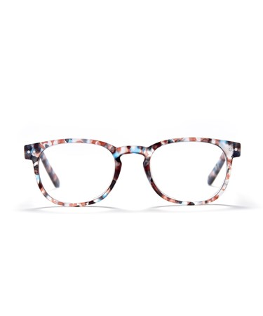 Square Frame Readers, Speckled Brown, +2.00