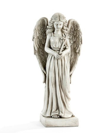 Grey Angel Statue