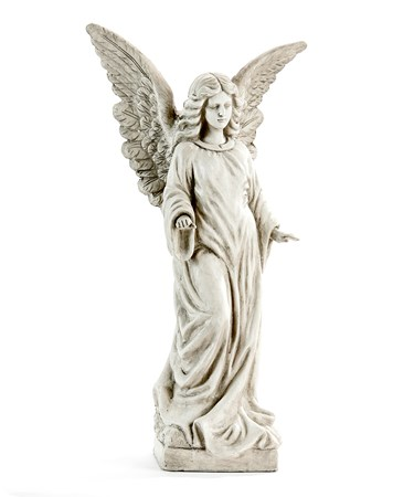 Standing Grey Angel Statue