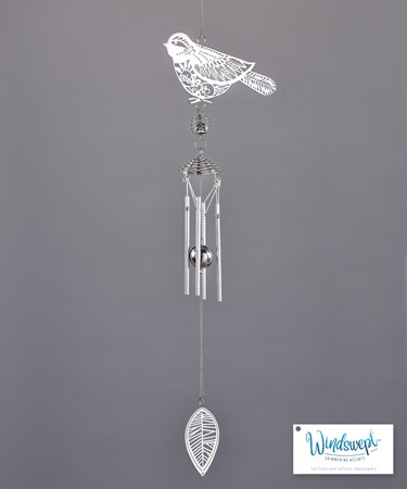 Bird and Leaf Windchime