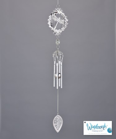 Dragonfly and Leaf 3D Windchime