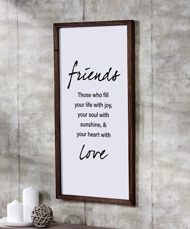 Friends Wall Sign