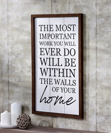 Work/Home Wall Sign