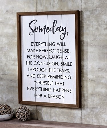 Someday Wall Sign