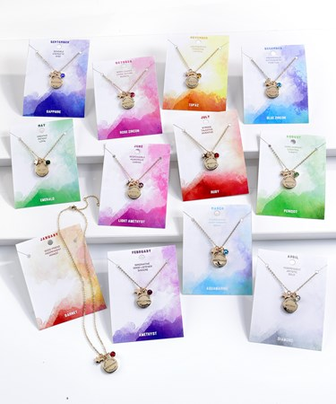 Birthstone Necklaces w/Displayer