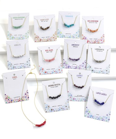 Gemstone Necklaces w/Displayer