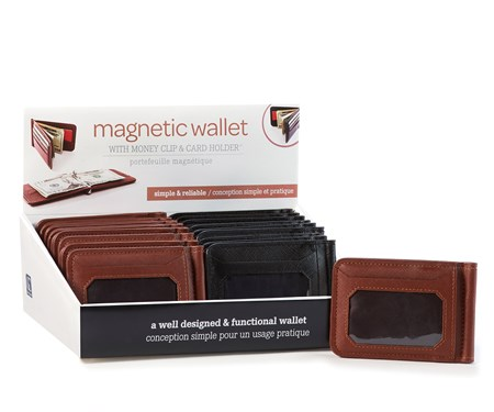 Magnetic Money Clip/Card Holder, 2 Asst. w/Displayer