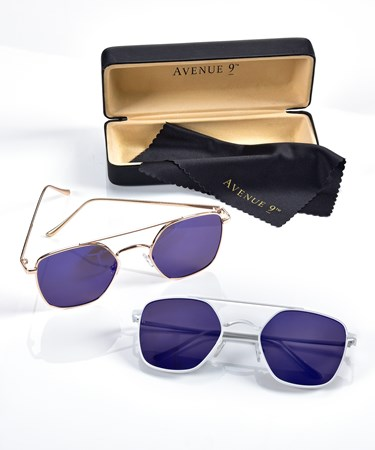 Sunglasses w/Case and Cloth, 2 Asst.