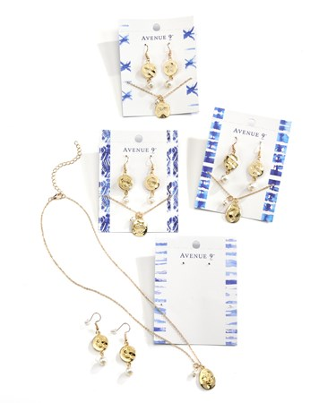 NecklaceandEarringsSet4AssortedwDisplayer