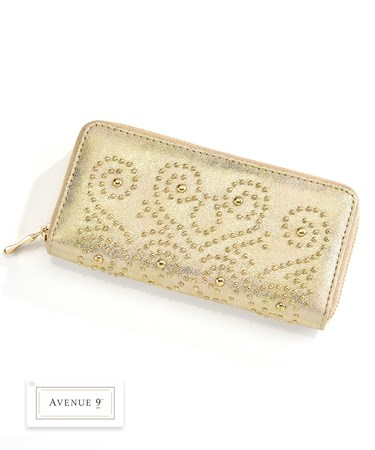 Gold Beaded Wallet