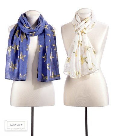 GoldStarfishScarf2Asst