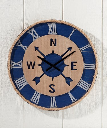 Compass Design Wall Clock