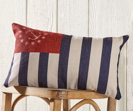 Printed Nautical Flag Pillow
