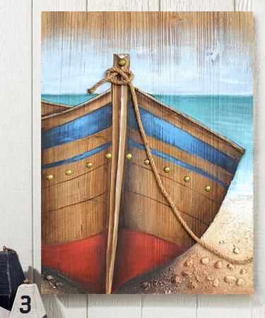 DockedBoatWallPrint