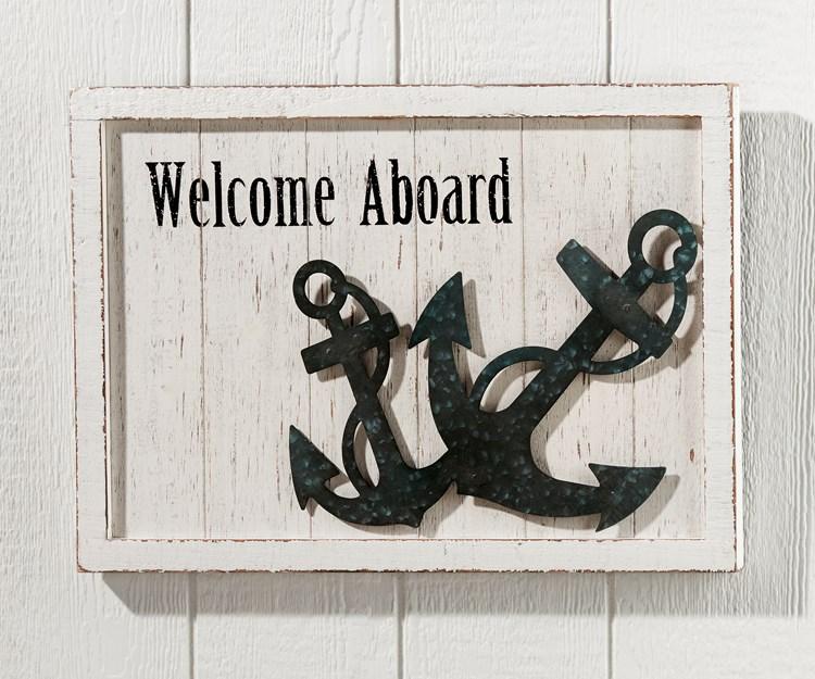 WelcomeAboardWallPlaque