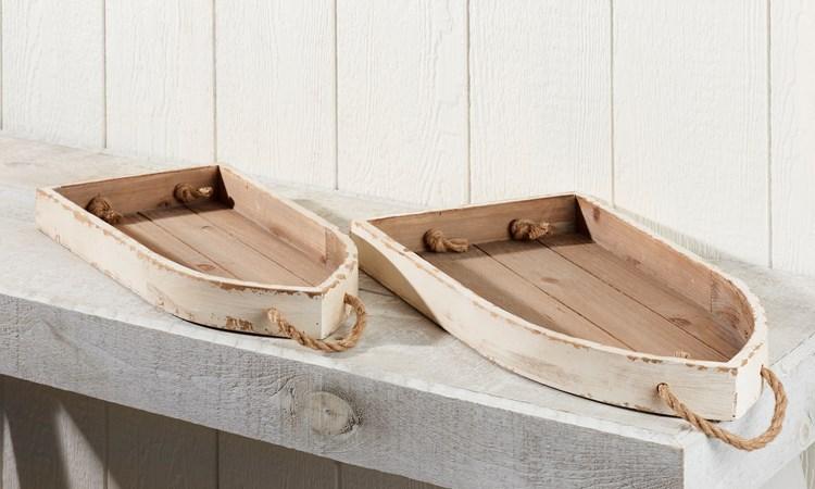 WoodenBoatTraysSetof2