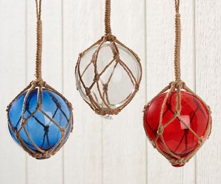 Hanging Glass Orb, 3 Asst.