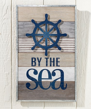 By the Sea Wall Sign
