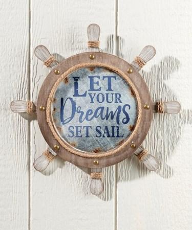 Ship Wheel Wall Sign
