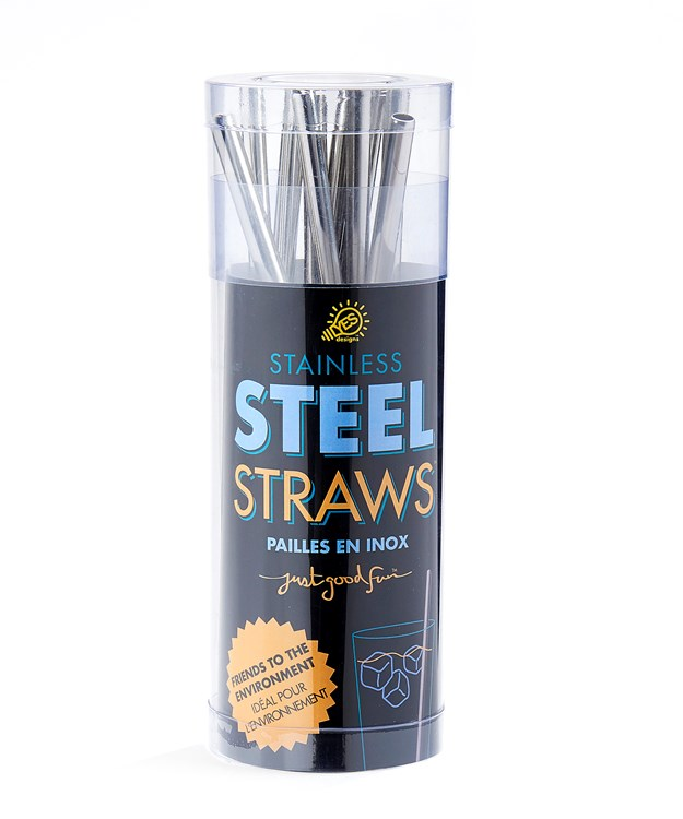 WideStainlessSteelStrawswDisplayer