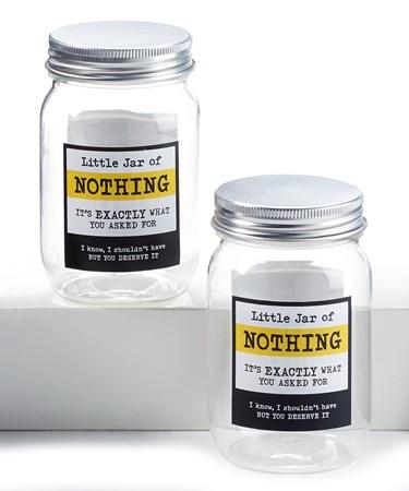 Jar of Nothing w/Displayer