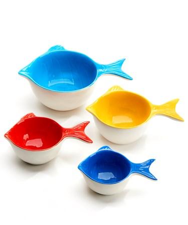 FishShapedMeasuringBowlsSetof4