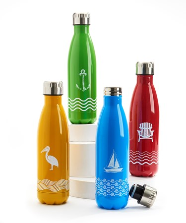 Double Wall Sport Bottle, 4 Asst.