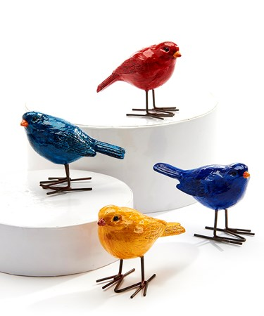Standing Bird Figurines, 4 Asst.