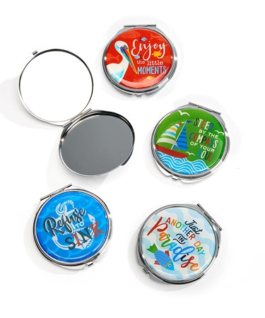 Compact Mirrors, 4 Asst. w/Displayer
