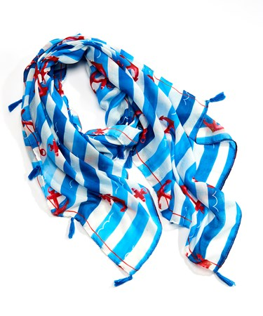 Stripe and Anchor Scarf