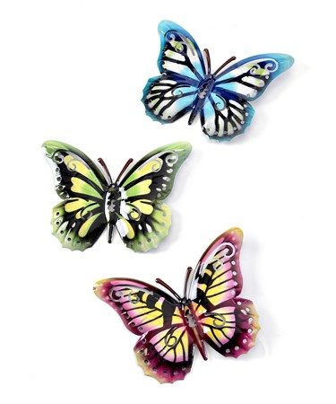 Butterfly Wall Plaque, 4 Asst.