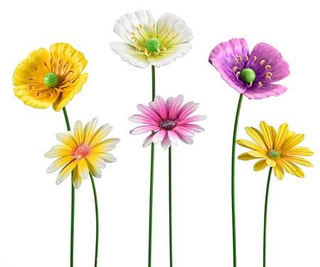 Flower Garden Stake, 6 Asst.
